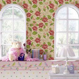 papel-de-parede-rosas-e-borboletas-amarelo-claro-1