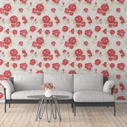 papel-de-parede-rosas-vintage-vermelho