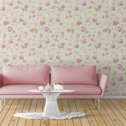 papel-de-parede-rosas-abstrata-palha