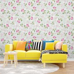 papel-de-parede-rosas-no-outono-verde-claro