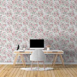 papel-de-parede-poa-ramalhete-de-rosas-branco