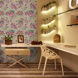 papel-de-parede-flores-diversas-palha