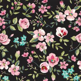 papel-de-parede-galhos-com-folhas-e-flores-preto