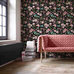 papel-de-parede-galhos-com-folhas-e-flores-preto-1