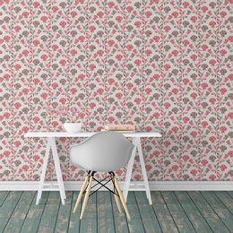 papel-de-parede-vintage-ramos-de-rosas-marrom