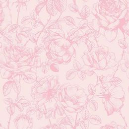 papel-de-parede-floral-vazado-com-rosas