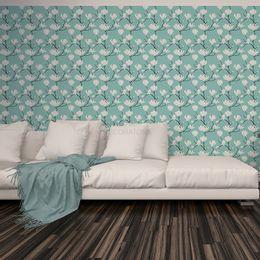 papel-de-parede-tropical-floral-turquesa