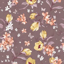 papel-de-parede-flores-variadas-marrom
