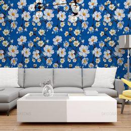 papel-de-parede-floral-com-fundo-azul-cobalto