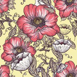 papel-de-parede-floral-classico-fundo-amarelo