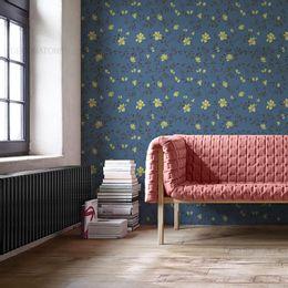 papel-de-parede-ramos-e-flores-azul