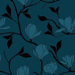 papel-de-parede-vintage-floral-arabesco-azul-cobalto