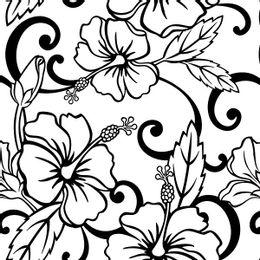 papel-de-parede-tropical-flores-em-preto