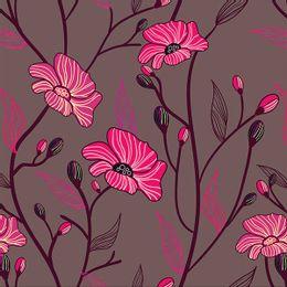 papel-de-parede-flores-em-arabesco-tons-escuros-grafite