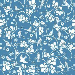 papel-de-parede-passaros-e-flores-arabesco-azul-cobalto