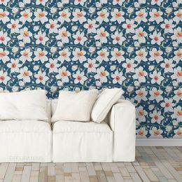 papel-de-parede-floral-orquideas-azul-cobalto