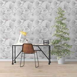 papel-de-parede-floral-desenho-lapis-branco