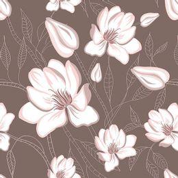 papel-de-parede-floral-moderno-tons-pasteis-marrom