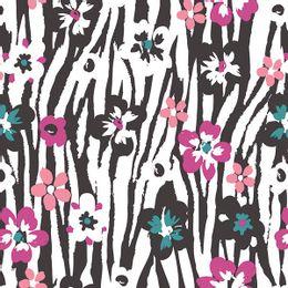 papel-de-parede-listrado-abstrato-floral-preto