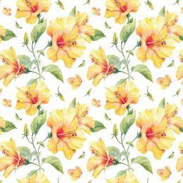 papel-de-parede-flores-em-amarelo-delicado