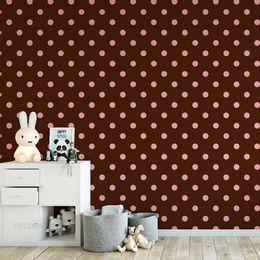 papel-de-parede-poa-bolinhas-4cm-marrom