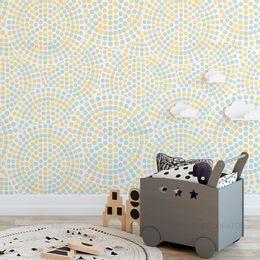papel-de-parede-poa-bolinhas-mosaico-15cm-colorida-tom-pastel-1