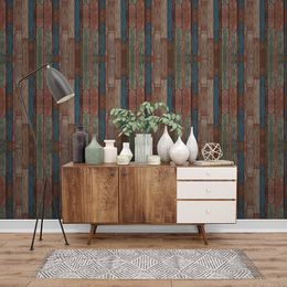 papel-de-parede-madeira-demolicao-colorida-azul-e-verde