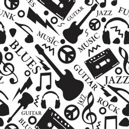 papel-de-parede-instrumentos-musicais-branco