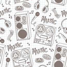 papel-de-parede-caixas-e-microfones-vintage-branco