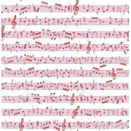 papel-de-parede-notas-musicais-vermelho