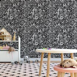 papel-de-parede-letras-rabisco-preto-1