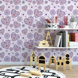 papel-de-parede-coracao-abstrato-lilas