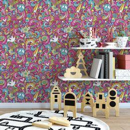 papel-de-parede-hippie-paz-e-amor-rosa