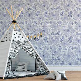 papel-de-parede-borboletas-arabescos-azul-cobalto