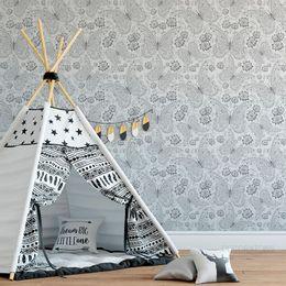 papel-de-parede-borboletas-arabescos-cinza-1