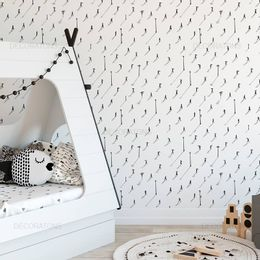 papel-de-parede-pedestres-e-postes-branco