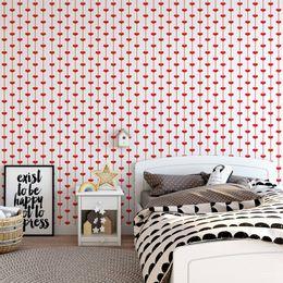 papel-de-parede-coracao-listrado-vermelho