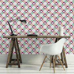 papel-de-parede-coracao-xadrez-turquesa