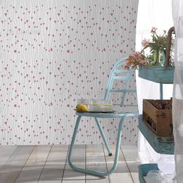 papel-de-parede-coracoes-em-fios-rosa