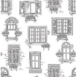 papel-de-parede-muro-de-janelas-branco