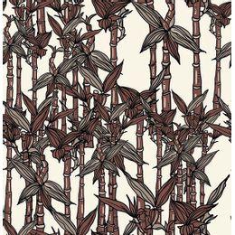 papel-de-parede-bambu-folhas-chocolate1