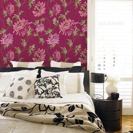 papel-de-parede-floral-vintage-escuro-vinho