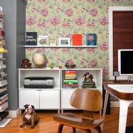 papel-de-parede-ramos-de-rosas-vintage-amarelo-claro