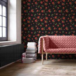 papel-de-parede-rosas-fundo-preto