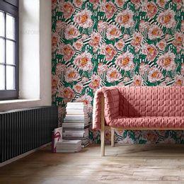 papel-de-parede-flores-rosa-listrado-moderno-rosa-claro