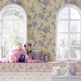 papel-de-parede-ramos-de-rosas-delicado-palha