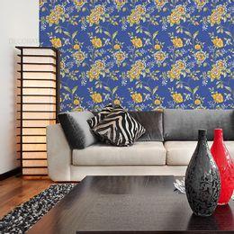papel-de-parede-floral-cores-vivas-azul-cobalto
