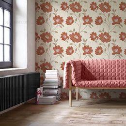 papel-de-parede-floral-moderno-abstrato-palha
