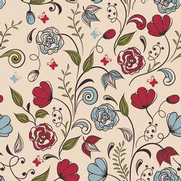 papel-de-parede-floral-delicado-suave-bege