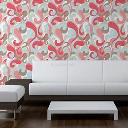 papel-de-parede-vintage-ondulacoes-coloridas-branco
